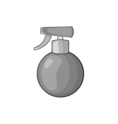 Spray bottle icon black monochrome style vector