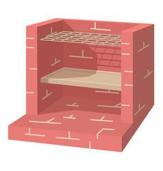 stone barbecue icon cartoon style vector image