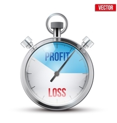 Stopwatch for forex trader vector image