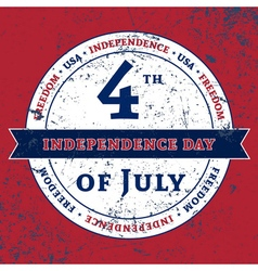 Symbol 4th July holiday Independence Day vector