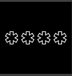 symbol enter password it is icon vector image