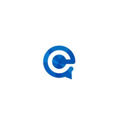 Talk letter e logo icon design vector