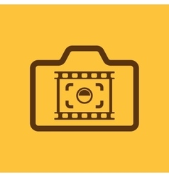 The camera icon Photo and photographer film vector image