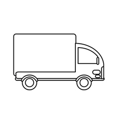 truck mini delivery cargo outline vector image