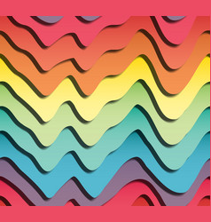 volumetric seamless pattern papercut vector image
