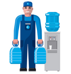 water delivery service man vector image