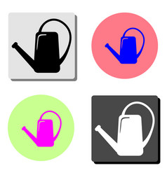 watering can irrigation flat icon vector image
