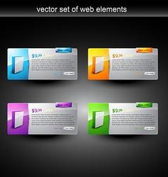 web product display vector image