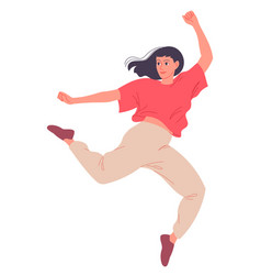 young woman dancing a modern dance female dancer vector image