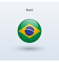 Brazil round flag vector image
