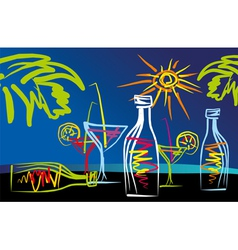 Cocktails001 vector image vector image