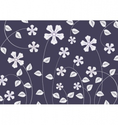 funky flowers vector image