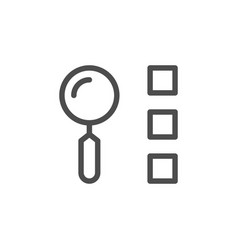 list search line icon vector image vector image