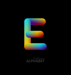 3d iridescent gradient letter e vector image vector image