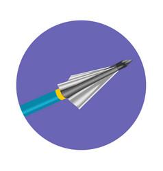 bow arrow icon vector image