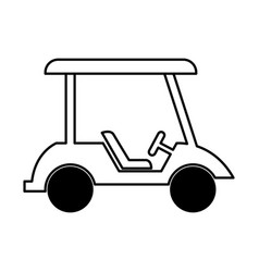 Golf cart isolated icon vector