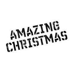 amazing christmas rubber stamp vector image vector image