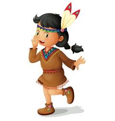 American indian girl vector