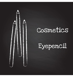 Eyepencil painted with chalk on blackboard vector image vector image