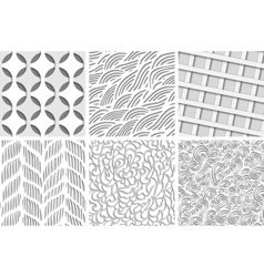 Set of eight seamless backgrounds vector image vector image