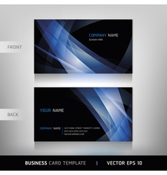Abstract Business Card vector image vector image