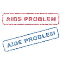 aids problem textile stamps vector image