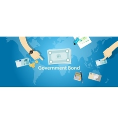 government bond investment money financial fund vector image