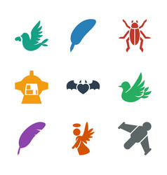 9 wing icons vector