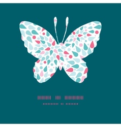Abstract colorful drops butterfly vector