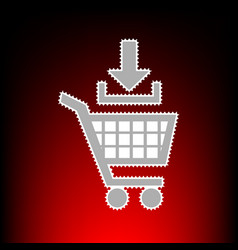 add to shopping cart vector image
