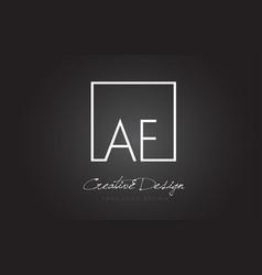 Af square frame letter logo design with black vector