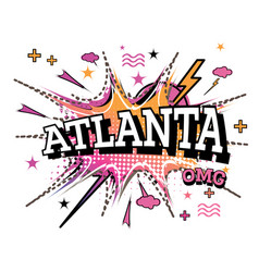 atlanta comic text in pop art style isolated on vector image