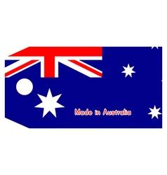 Australia flag on price tag vector