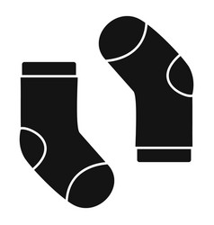 baby sock icon simple style vector image