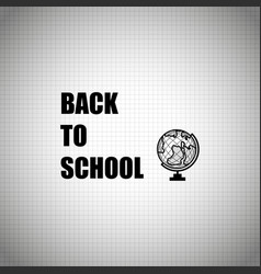 back to school design over white background vector image