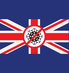 Banner on a theme coronavirus with uk flag vector