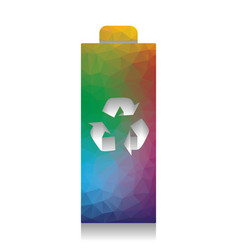 battery recycle sign vector image