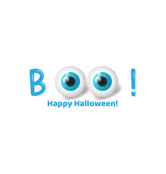 Boo halloween banner background with realistic 3d vector