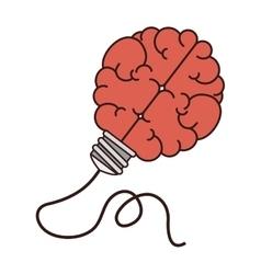 Brain plug mind vector