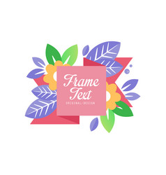 bright logo with frame and space for text original vector image