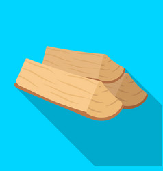 Chopped firewoodbbq single icon in flat style vector