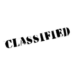 classified rubber stamp vector image