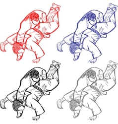 Collection judo for cutting vector