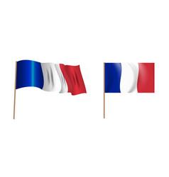 colorful naturalistic waving flag france vector image