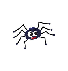 Cute funny black spider traditional halloween vector