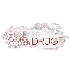 Drug abuse word cloud concept vector