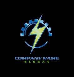 Electrical logotype black background vector