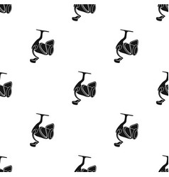 Fishing reel icon in black style isolated on white vector