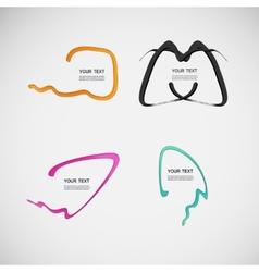 Flat line dialog design color elements vector image