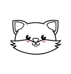 Fox kawaii cartoon vector